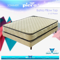 Sommier Piero Bahía Doble Pillow Top - Resortes - 140 X 190