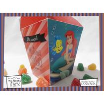 Souvenir Personalizado Cumple Caja Sirenita Ariel Disney