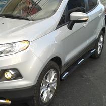 Estribo Cromado Redondo Para Ford Eco Sport Kinectic Curvo