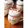 Taza Gato De La Fortuna Suerte Ceramica Con Tapa