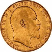 Libra Esterlina/soberano De Oro Eduardo Vii Año 1910 -olivos