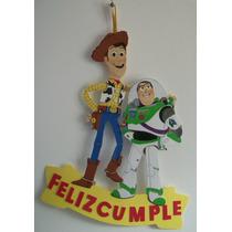 Cartel Cumpleaños - Toy Story - Goma Eva 42 X 42 Cm