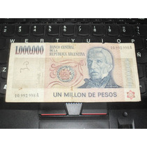 Billete De 1 Millon Pesos Ley 18188 ... 1.000.000 !!