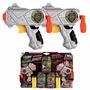 X-shot Dual Zombie Lanza Discos Y Dardos Incluye Blancos X6