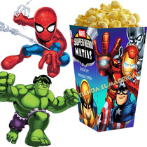 Kit Imprimible Escuadron De Super Heroes Candy Bar Cumple