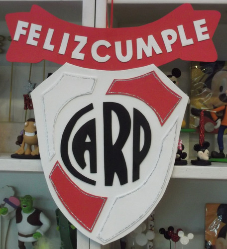 Cartel Cumpleaños - River Plate - Goma Eva 32 X 35 Cm.   500 de4e1509e479c