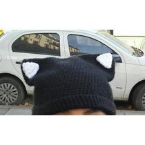 Gorro Gato / Gatito A Crochet
