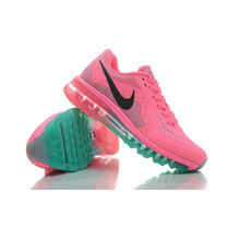 Nike Air Max 2014 Mujer, Pink/greenanthem, Envio Gratis Oca!