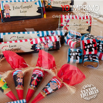 Candy Bar Jake Y Los Piratas Kit Imprimible Texto Editable