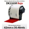 Rollo De Etiquetas Brother Continuo Dk2205 62mm De Colores