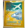 Cartel Compania Aerea Enlozado 33x 41 Vinatge#