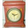 Reloj De Madera Vintaje Patinado