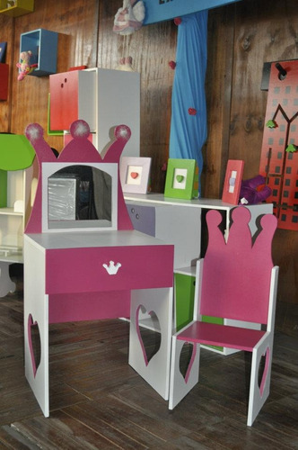Tocador nena set de belleza silla princesa casita infantil - Sillas para tocador ...