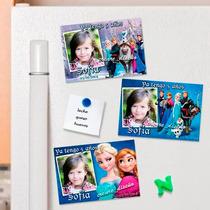 Frozen Souvenirs Cumpleaños 10 Imanes Con Foto Super Lindos