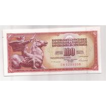 Yugoslavia Billete De 100 Dinara Año 1986 Pick 90 C !!!