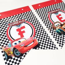 Banderin Personalizado Cars Rayo Mate Cumpleaños Decoracion