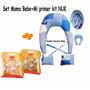 Set Mama Bb+kit Nuk:2 Mamaderas,2 Chupetes Y Portachupete