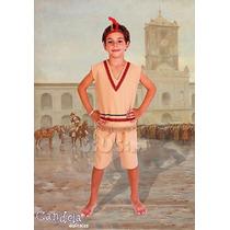 Disfraz Patrio Indio 3-9 Años Completo Con Pluma! Jiujim