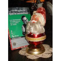 Antigua Caja De Música Papá Noel Año 1970 Nueva! (5102)