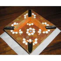 Muy Decorativo Cenicero O Centro De Mesa Años 70 En Ceramica