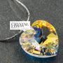Collar Con Dije Colgante Corazon Swarovski Elements Plata925