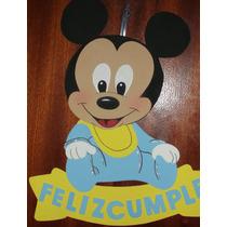 Cartel Cumpleaños -mickey | Minnie Bebe - Goma Eva 46 X 39cm
