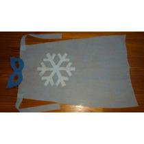Souvenir Frozen Capa Fiselina Y Antifaz Goma Eva