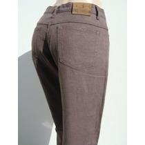 Cardon Pantalon T42 Lino 100% Elastizado Marron (ana.mar)