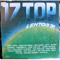 17 Top Lentos 1991 Compilado Disco Lp Vinilo Polystar