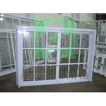 Aberturas: Ventana Aluminio Blanco Repartido 1,50x1,10 C/vid