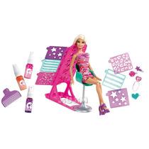 Barbie Salon Colores Y Diseños Origi. Mattel Video Tv Jiujim