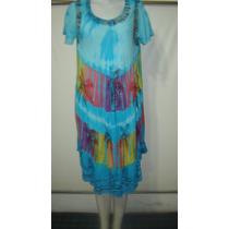 Vestido Hindu Algodon Pint,, Y Batik M/c P/navidad