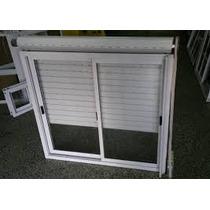 Ventana 150x110 Aluminio Blanco Con Persiana Pvc