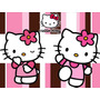 Kit Imprimible 4x1 Hello Kitty Candy Bar Cotillon Rosa Roja