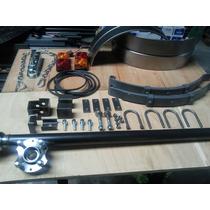 Eje Trailer Kit 700 Kg + Guardabarros +accesorios Completo