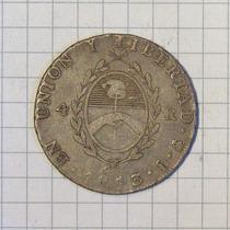 Provincias Unidas 4 Reales 1813 Muy Linda Y Rara 13,4 Grms