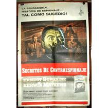 Secretos De Contraespionaje Afiche Cine Orig 1960 N438