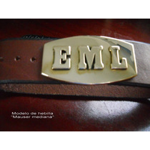 Cinturon Con Hebilla De Iniciales