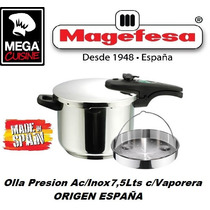 Olla Cacerola Presion Ace/inox Magefesa C.7,5lts Made España
