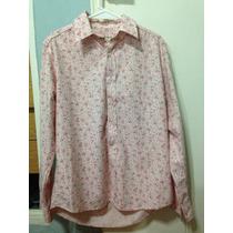 Camisa Rosa Flores Old Brigde Talle M