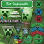Kit Imprimible Minecraft Decoración Fiesta Niño