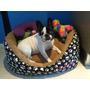 Cama Mascotas Gatos Perros En Polar Y Silver 55x45cm