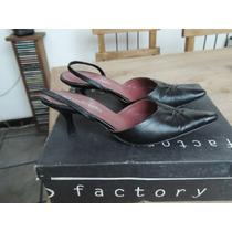 Zapatos De Cuero Negro Marca Batistella Taco Chupete