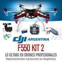 Hexacoptero Dji F550 Futaba Gps Gimbal Bateria Gopro Drones