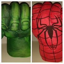 Puños Guantes Gigantes Hombre Araña Y Hulk