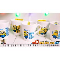Taza Ceramica Te Cafe Minion Decoradas