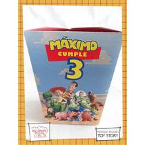 Caja Evento Personalizada Cumple Toy Story Buzz Woody Disney