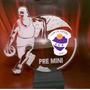 Trofeo Medalla Acrilico Futbol Basquet X 15 Cm Color