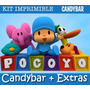 Kit Imprimible Pocoyo - Promo 2x1 - Candy Bar - Invitaciones