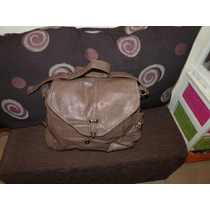 Alma De Jazmin Cartera De Simil Cuero Color Marron Promo